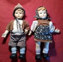 Oumlet Hansel and Gretel Bisque Porcelain Dolls Need Restringing 70's-80's - $100.00