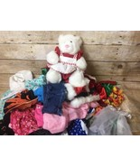 HUGE LOT of 46 PIECES Clothes Outfits + I Bear in outfit Santa, Halloween - $46.71