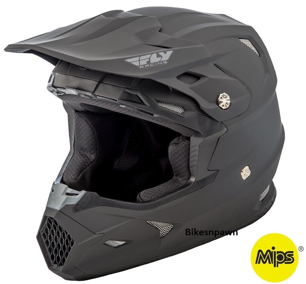 New XL Adult Fly Racing Toxin Resin Motocross Off Road Helmet Flat Black MPS