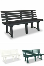 Outdoor Plastic Bench Garden Lawn Patio Seating Playground Camping Furni... - $120.53