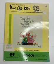 Vtg 1985 Anne Fitzgerald's Dear God Kids Cross Stitch Calendar Pattern B... - $8.17