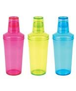 Cocktail Shaker, Jolt Neon Plastic Unique Cute Clear Shaker Cocktail - $22.09