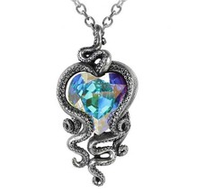 Alchemy Gothic Heart of Cthulhu Prismatic Crystal Octopus Kraken Pendant... - $79.95