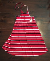 New Mossimo Supply Target Sz Xs Ribbed Halter Tank Dress Red+Navy+White Stripes - $18.70