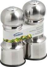 "Stainless Steel Salt & Pepper Set 4.5""-Silver - Empty - $15.42"