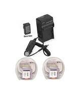 2X Batteries + Charger for Sony FDR-X1000 FDR-X1000V FDRX1000VR/W FDR-X1... - $27.27