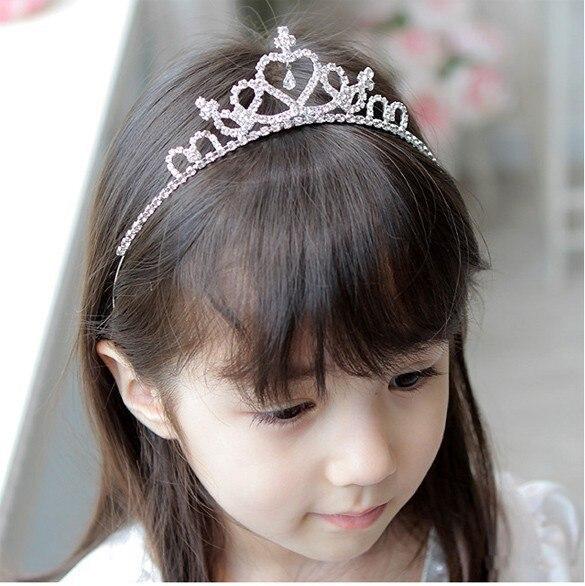 Crown wedding jewelry flower girl princess crystal rhinestone tiara headband birthday prom party