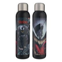 Marvels Venom Comic Art Image 22 Oz Stainless Steel Water Bottle NEW UNUSED - $19.34