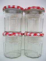 4 Bonne Maman Empty Jam Jelly Glass Jars & Lids - $11.99