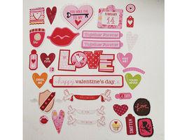 Love and Valentine's Day Cardstock Ephemera, 58 Pieces image 4