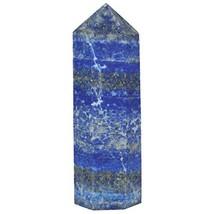 SUNYIK Lapis Lazuli Quartz Self Standing 6 Facet Single Point Figurine S... - $14.24