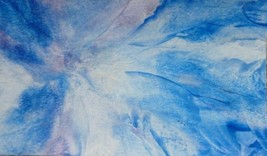 "Akimova: WINTER, abstract, wax painting, 6""x11"" - $7.00"