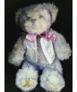"Build a Bear purple lavender Breast Cancer Awareness plush stuffed 15"" r... - $9.99"