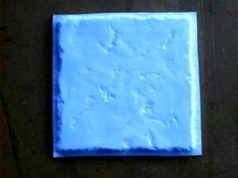 "Concrete Tile Molds Make 13""x13"" Custom Chiseled Stone Tiles @ 30 Cents Each"