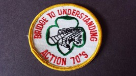 Vintage Girl Scout Brownie Badge Patch Bridge to Understanding Action 70's - $17.07