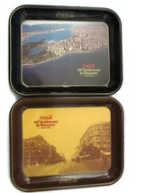 Coca-Cola 2 Commemorative Trays  Vancouver Bottler 60th Anniversary Issu... - $19.80