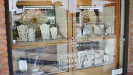 18K ROSE & WHITE GOLD BRACELET SMOOTH BRIGHT DAISY FLOWER, MARINER LINK, ITALY image 9