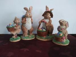 Department 56 Easter Family Set Of Bunnies With Baskets Eggs - $93.49