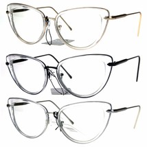 Womens Double Rim Goth Cat Eye Clear Lens Glasses Frame - $12.95