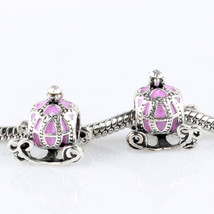 1 Piece Fairybook Pumpkin car Charm bead fit European Bracelet Chain - $6.05