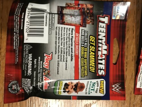 TeenyMates WWE Series 2 Mini-Figures 4-pack-Brand New Sealed