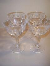 Set of 4 Vintage Elegant, Bar, Cut CRYSTAL Wine Glass, Goblet, - Nice Qu... - $24.74