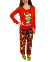 The Grinch Matching Girls Grinch 3pc Family Pajama Set Red Size 7/8 - $39.19