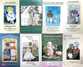 Vintage Dolls Angels Country Sewing Crafts Lot 8 Patterns 1985-1995 - $31.50