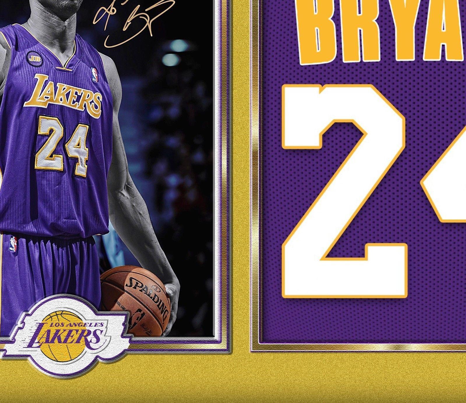 Kobe Bryant Lakers NBA signed autograph photo poster print KOBE BRYANT Framed
