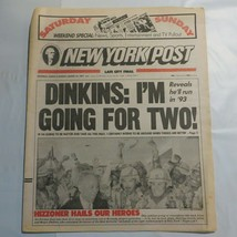 New York Post March 10 1991 Dinkins Hizzoner 9A - $39.99