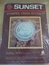 Sunset Twenty-Third Psalm The Lord is My Shepherd Stamped Cross Stitch Kit - $9.95