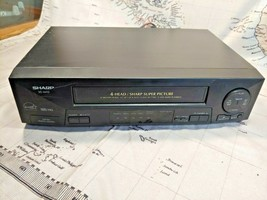 Sharp VC-A410 Vcr 4 Head Hi-Fi Vhs Video Cassette Player Recorder No Remote - $34.99