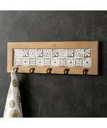 Hanging 5 Hooks Entryway Wall Mounted Coat Jacket Hat Organizer Rack Dec... - $49.45