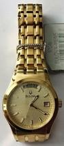 BULOVA Gent's Goldtone Wristwatch Day and Date 97C48 w/defects No Box/pa... - $94.95