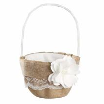Ivy Lane Design Rustic Garden Flower Basket, 9.5 by 6-Inch, White - $82.75 CAD