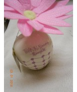 New Hallmark porcelain vase w/ flower says: Think Sunny Thoughts Mother... - $7.43