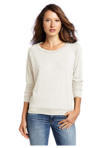 NEW Alternative Apparel Womens Eco-Jersey Slouchy Pullover Ivory Small S... - $19.86