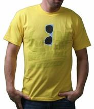 The King Mens Yellow Shady Sunglasses Sunnies T-Shirt USA Made NWT