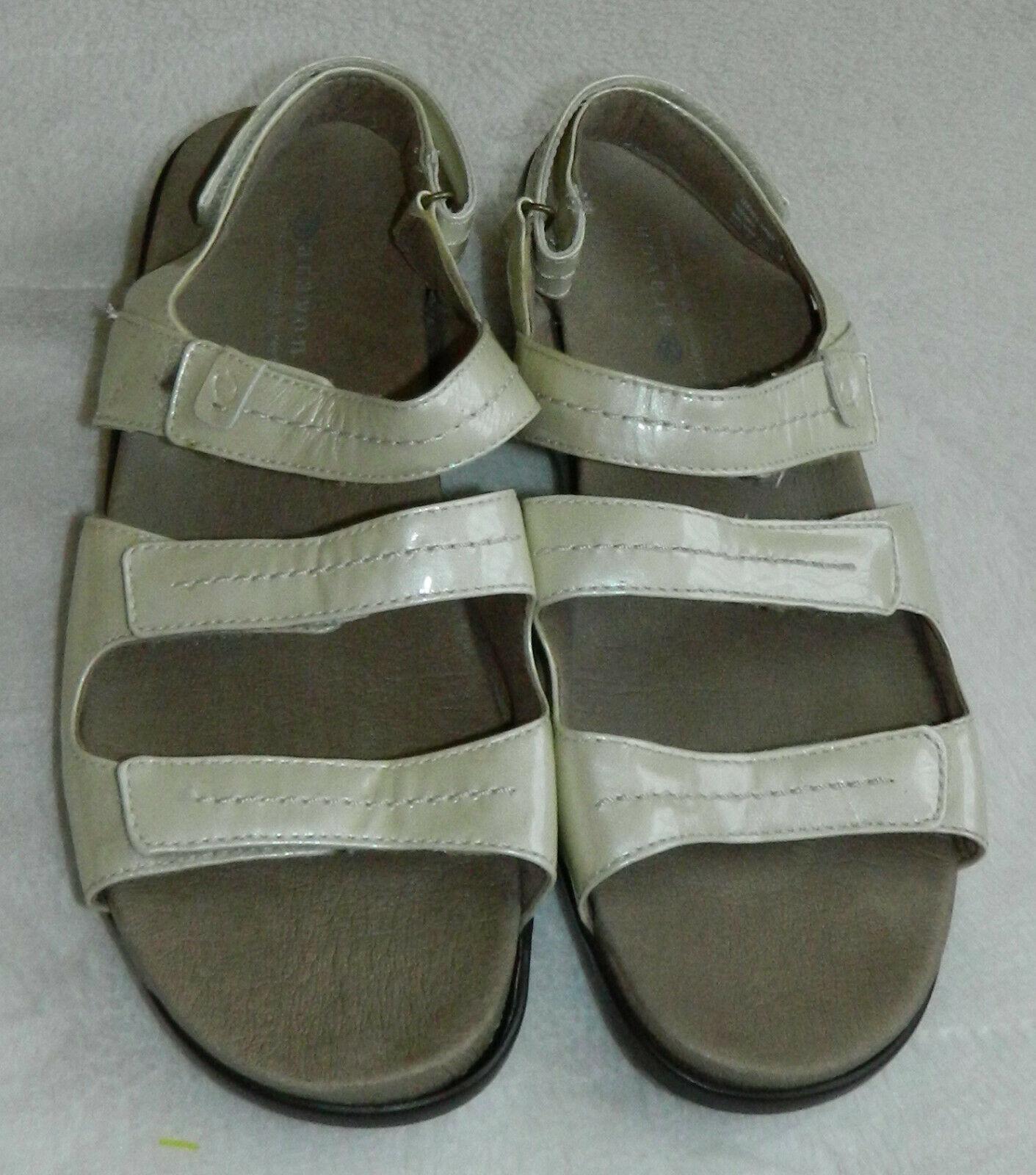 New Balance Aravon Keri Sandals Slingback Womens 11 Leather Cream Orthotic