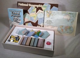 VINTAGE 1987 NATIONAL GEOGRAPHIC GLOBAL PURSUIT GAME - $25.73