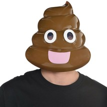Amscan Kacke Kopf Gesicht Emoji Lustig Maske Adult Unisex Halloween Mode 848735 - $14.74