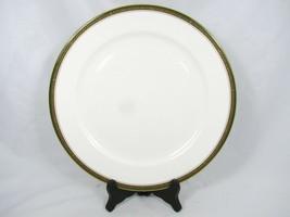 "Aynsley John Bone China Evergreen Service Round Plate Gold Leaf 12"" England  - $25.73"