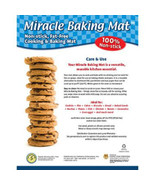 Miracle Baking Mat Non-Stick Reusable Cooking  Oven Microwave Non Stick ... - $9.00