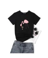 Cute Funny Flamingo Drinking Wine Lover Women's T-shirt- Women's T-Shir... - $27.11+