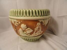 """Vintage Roseville Pottery Donatello Jardiniere 6.5"""" tall EUC - $24.99"""