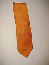 Robert Talbott Class Orange Blue Dots Men's Extra Long Handmade 100% Sil... - $22.76