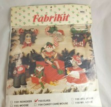 Christmas Stuffed Elves Sewing Kit Fabrikit 1103 Jolene Cox Still Sealed - $16.12