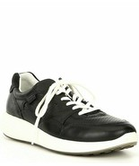 Ecco Dusty Black Women's Soft 7 Runner Leather Lace-Up Sneaker Size 9-9... - $74.76