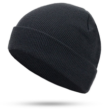 Women Men Knitting Beanie Hip-Hop autumn Winter Warm Caps Unisex #Black - $17.99