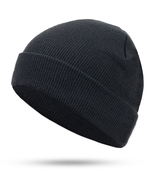Women Men Knitting Beanie Hip-Hop autumn Winter Warm Caps Unisex #Black - £13.91 GBP